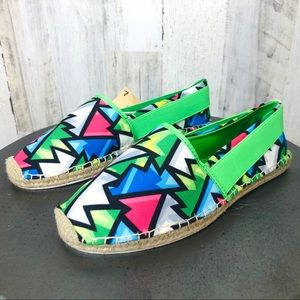 Loudmouth Lucky Crystal Neon Espadrilles
